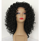 PlatinumHair handmade collection kinky curly wigs synthetic lace front wigs for black women 60cm