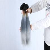 Angelbabyhair 7A Brazilian Virgin Hair Weave Grey Ombre Human Hair Extensions 3 Pcs 1B Grey Straight Hair 41cm