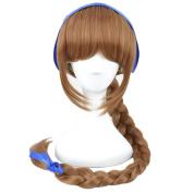 Xcoser Fairies Tinkerbell Fawn Wig Brown Long Braid Anime Wig