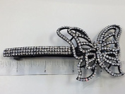 Crystal Hair Barrette With Black Colour Metal Clip