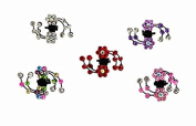 Skyvan 10pcs Bangs Mini Hair Claw Clip Hair Pin Flower For Wedding Girl Mix Coloured