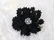 Sweet Lace Flower Hair Clip and Pin with crystal