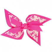 Victory Bows Butterfly Pinwheel shaped Breast Cancer Awaresness Hair Bow-Made in USA- Glenda Faye Go Pink French Clip
