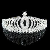 AshopZ Women's Rhinestone Wedding Bridal Party Birthday Crown Tiara Oval-Shape