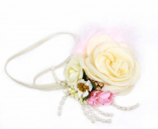 Vintage Floral Feather Pearl Flapper Headband Elegant