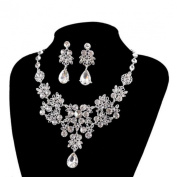 Wensltd Women's Jewellery Sets Bride Earrings & Pendant Necklace