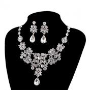 Wensltd Women's Jewellery Sets Bride Earrings & Pendant Necklace