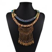 Wensltd Women Colourful Bohemia Tassels Drill Necklace Choker