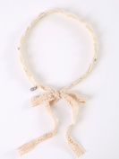 Vintage style pretty floral Ivory lace headbands with crystal and pearl