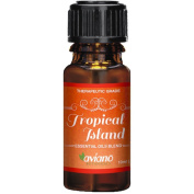 Tropical Island Essential Oil Synergy Blend - 100% Pure Essential Oils Blend for a Happy & Warm Paradise Atmosphere By Aviano Botanicals
