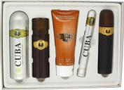 Cuba Gold by Fragluxe Gift Set -- 100ml Eau De Toilette Spray + 100ml After Shave Spray + 200ml Body Deodorant Spray + 200ml Shower Gel + 35ml EDT Spray for Men