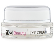 Eye Cream Treatment with Vitamin C, Hyaluronic Acid, MSM, Glycolic Acid, Green Tea, Rosehip Oil and Coenzyme Q10