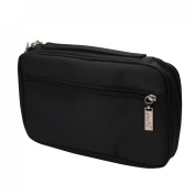 Andux Land 25 black PU portable professional makeup brush bag HZB-01