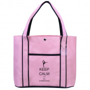 Fashion Tote Bag Shopping Beach Purse Keep Calm and Do Gymnastics