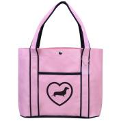 Fashion Tote Bag Shopping Beach Purse Dachshund Heart