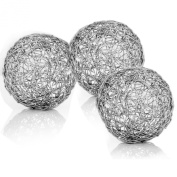 Modern Day Accents Guita Wire Spheres, 7.6cm Diameter, Box of 3