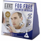 Fogless Shower Mirror - No Fog Mirror for Shower - Advanced Suction Locks Stability - Adjustable Arm Rotating Shaving Mirror - Personal Mirror or Travel Mirror - BONUS Razor Holder
