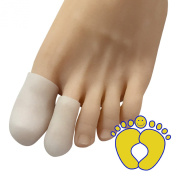 HappyFeet Toe Cap Toe Protector Sleeve - For Bunion, Hammer, Toe Rubbing 2- Pack