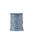 FreshHear Pack of 1 for 80m Waxed Cotton Cord Colour Light Blue Size 1.5x1.5mm