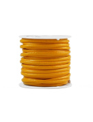 FreshHear 10m Leather Cord Colour Buttercup Yellow Size 3x3mm