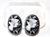 Clear-silicone pendant,earrings bracelet,art,craft mould.Size 25x18mm.