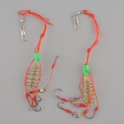 2x Fishing Hooks Hook Explosion Carbon Steel Sharp Fishhook With Box Tackle Tool Useful New Arrival