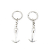 80 Pieces Keyring Keychain Keytag Key Ring Chain Tag Door Car Wholesale Jewellery Making Charms O4HV8 Boat Anchor