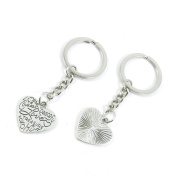 80 Pieces Keyring Keychain Keytag Key Ring Chain Tag Door Car Wholesale Jewellery Making Charms O5OY5 Love Heart