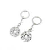 80 Pieces Keyring Keychain Keytag Key Ring Chain Tag Door Car Wholesale Jewellery Making Charms M4MX3 Gear Wheel