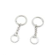 2 Pieces Keyring Keychain Keytag Key Ring Chain Tag Door Car Wholesale Jewellery Making Charms W5LR8 Gear Gearwheel