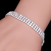 Fashion Crystal Wedding Bracelets with Clasp