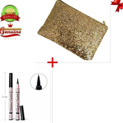 EYX Formula Gold Evening Cluth bag for Women +3 Pcs Line Stylist Liquid Eyeliner Pen