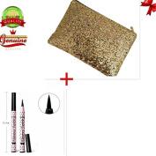 EYX Formula Gold Evening Cluth bag for Women +3 Pcs Line Stylist Liquid Eyeliner Pen