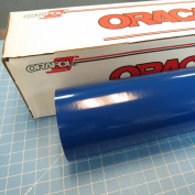 30cm x 3m Roll of Glossy Oracal 651 Blue Vinyl for Craft Cutters and Vinyl Sign Cutters