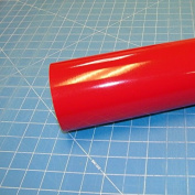 30cm x 3m Roll of Glossy Oracal 651 Red Vinyl for Craft Cutters and Vinyl Sign Cutters