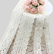 Romantic Wedding 17mm Lace Ribbon , Handmade Bowknot Material For Decoration,white
