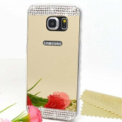 Galaxy S7 Bling Case-Superstart Gold Samsung S7 Soft Beauty Makeup Bling Mirror Glass Case Cover for Samsung Galaxy S7