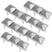 TRIXES 200pcs 7mm Silver Clothing Pyramid Studs Nickel Rivet Leathercraft Bag Belt Punk