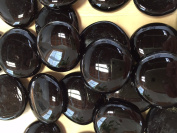 Sun and Moon Glass Gems/ BLACK Glass Gems, Large