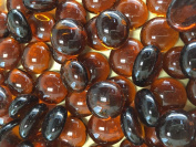 Sun and Moon Glass Gems/ DARK AMBER Glass, Small