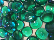 Sun and Moon Glass Gems/ Dark Green Glass Gems, Medium