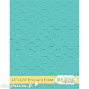 Taylored Expressions Chicken Wire Embossing Folder
