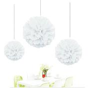Since ® 12pcs Mixed Sizes White Tissue Paper Flower Pom Poms Pompoms Wedding Birthday Party Home Decoration