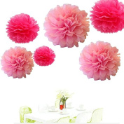 Since ® 12pcs Mixed 3 Sizes Pink Hot Pink Tissue Paper Pom Poms Pompoms Wedding Party Baby Shower Room Nursery Decoration