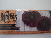 Party Mixers 2 Paper Rosettes - Purple - 36cm x 43cm diameter