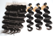 Full Frontal Lace Closure 13x 4 With Baby Hair And 3 Bundles Brazilian Human Virgin Remy Hair Body Wave 100 Unprocessed Weaving Extensions 9A 1B -26 28 30+50cm