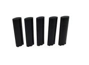 TOPWEL 4.5g Black Empty Plastic Oval Lip Balm Tubes