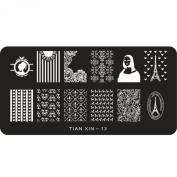 Susenstone® 1PCS Women Fashion Nail Art Sticker Stamping Plates DIY Decoration