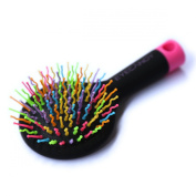 Cute Professional Brush, Detangling Rainbow Comb, Shower Brush, Styling Brush, Gently Protects the scalp, Ddetangle any hair with Back Mirror