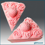 Strawberry Pie Slice - 3d Soap/candle/polymer/clay/cold Porcelain Silicone Mould
